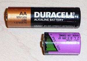 Батарейка размера 1/2АА (снизу)